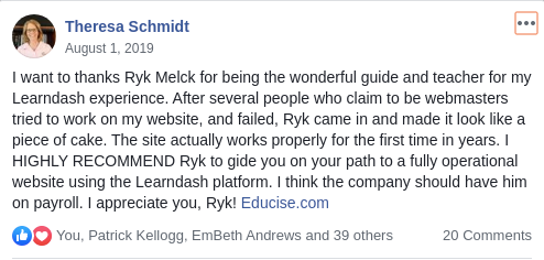 Ryk Melck Recommendation