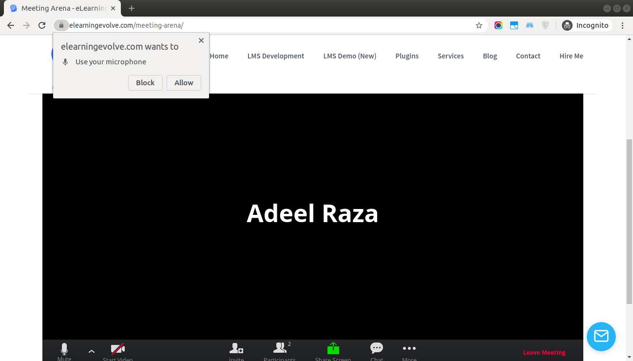 Allow access from browser for Zoom Audio