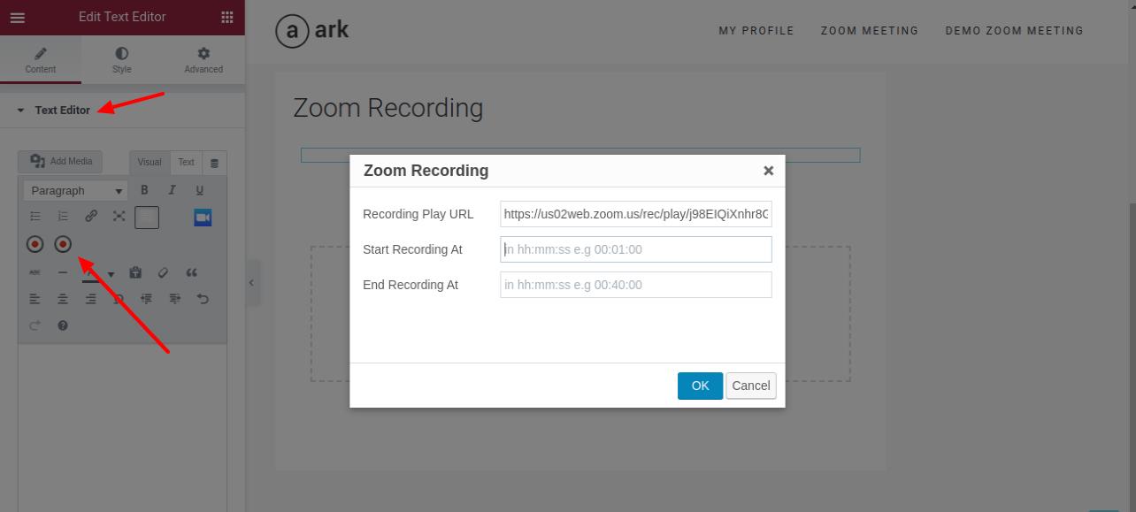 Zoom WP Recording Shortcode