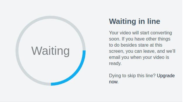 After Video upload on Basic Vimeo plan