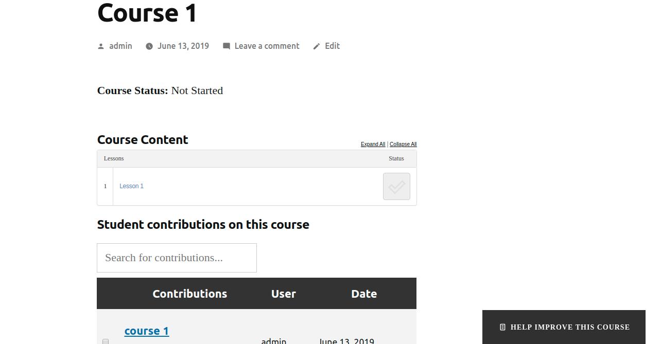 LearnDash student voice course page