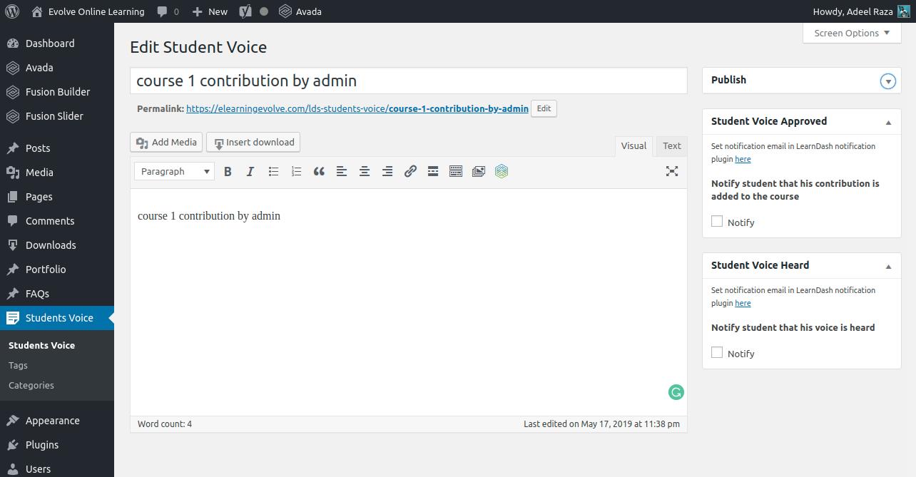 Student Voice Dashboard edit