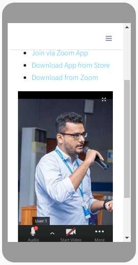 Zoom Meeting on mobile
